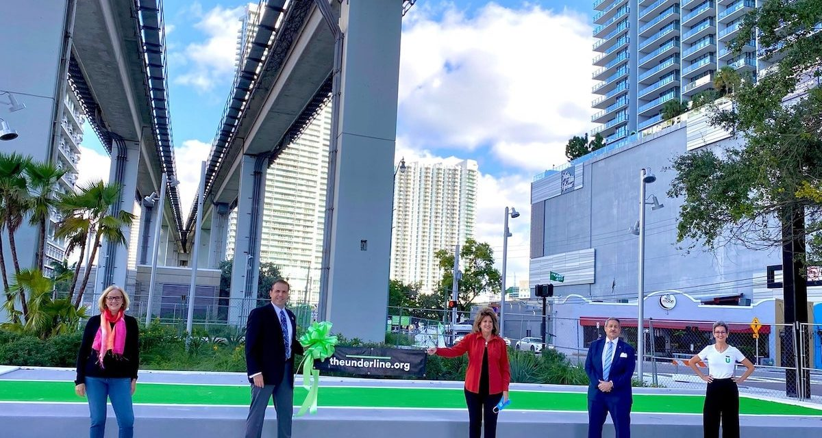 The Underline has officially opened in the Brickell neighborhood of Miami