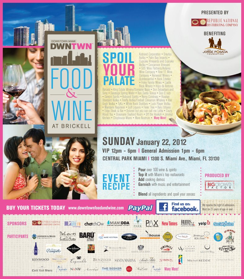 Downtown Miami Food & Wine Festival at Brickell