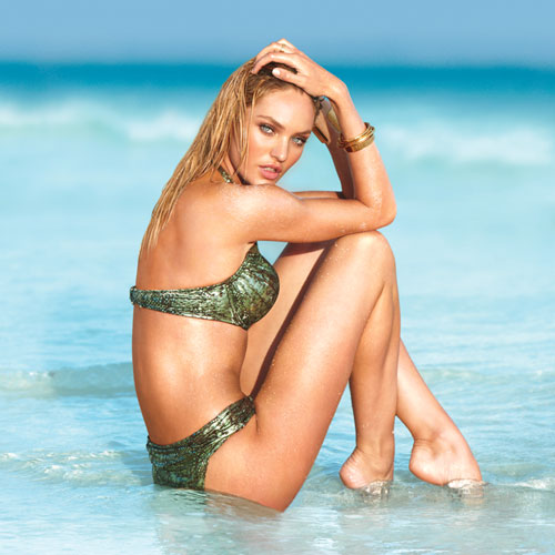 Supermodel Candice Swanepoel Looks Hot in Victoria's Secret 2012 Swimwear Collection