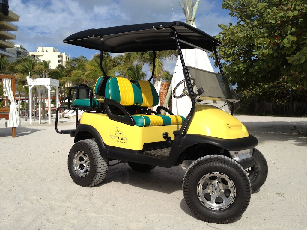 Rent a Citycart and ride around Miami Beach in style!