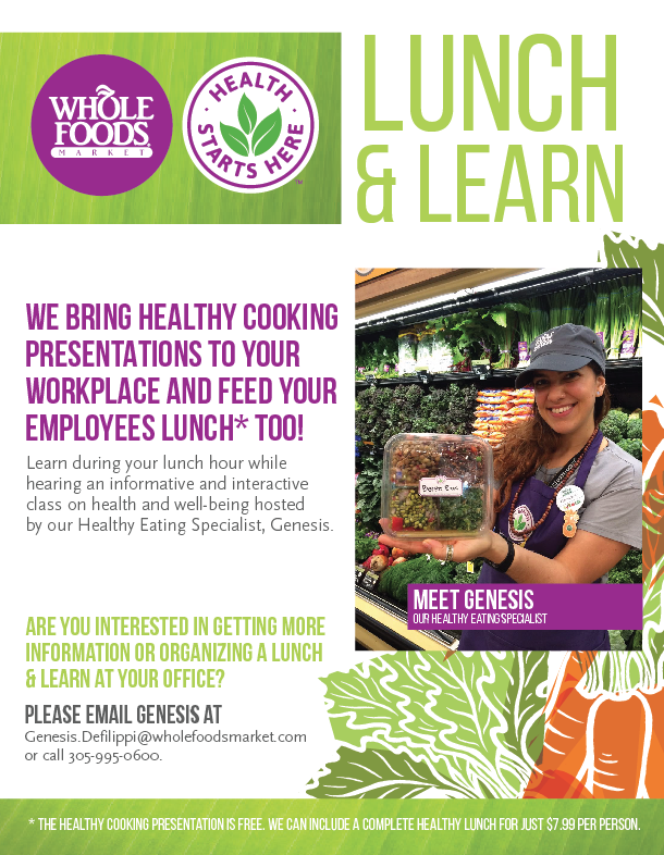 Whole Foods Market Downtown Miami Launches Lunch & Learn