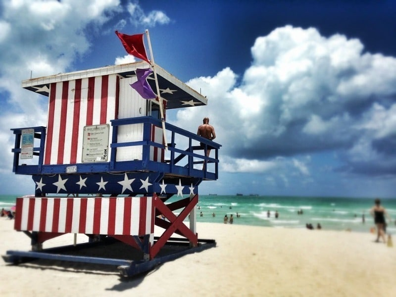 Sparks are flying in Miami Beach for the 4th of July