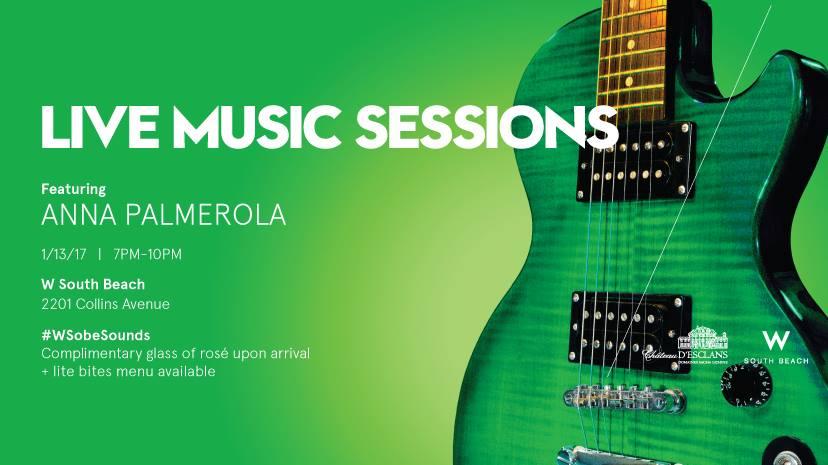W South Beach announces next Live Music Session with Local Pop Artist Anna Palmerola